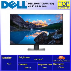 """DELL MONITOR  U4320Q 42.5"""" IPS 4K 60Hz/BY TOP COMPUTER"""